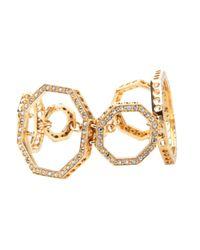 Ca&Lou   Metallic Octagonal Link Bracelet   Lyst