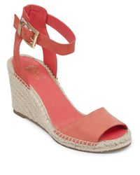 Vince Camuto | Pink Tagger Nubuck Espadrille Wedge Sandals | Lyst
