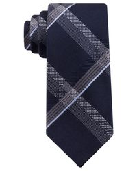 Kenneth Cole Reaction | Blue Festive Grid Slim Tie for Men | Lyst