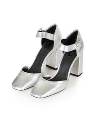 TOPSHOP | Metallic Ginger Mary Jane Shoes | Lyst