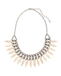 H&M | Metallic Necklace With Stone Beads | Lyst