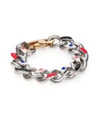 Delfina Delettrez | Multicolor Anatomik Enamel & Sterling Silver Large Curb Chain Bracelet | Lyst