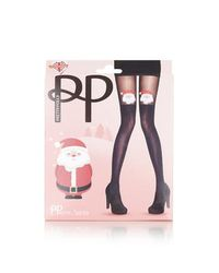 aa9a32275 Lyst - TOPSHOP Pretty Polly Christmas Tree Tights in Black