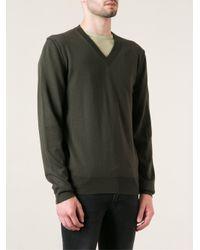 Dolce & Gabbana - Green Vneck Sweater for Men - Lyst