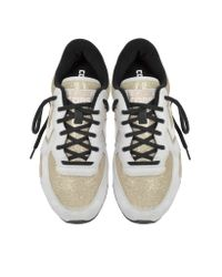 Converse - Metallic Auckland Racer Ox Gold Glam Fabric And Suede Sneaker W/glitter - Lyst