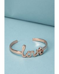 Forever 21 - Metallic Ban.Do Love Cuff - Lyst