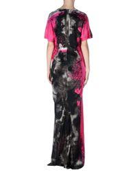 Just Cavalli - Gray Long Dress - Lyst