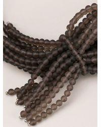 Brunello Cucinelli - Black Multi Strand Tie Necklace - Lyst