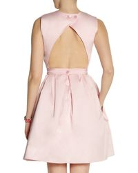 Carven | Pink Open-Back Cotton Dress | Lyst