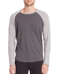VINCE | Gray Slub Raglan Tee for Men | Lyst
