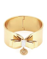 Juicy Couture   Metallic Large Bow Cuff Bracelet   Lyst