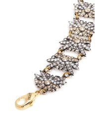 Lulu Frost | Metallic 'larkspur' Multi Floral Crystal Station Bracelet | Lyst
