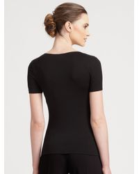 Armani | Black Stretch Tee | Lyst