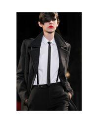 Saint Laurent - Black Leather Tie - Lyst