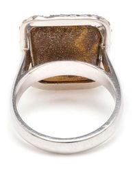 Kimberly Mcdonald | Metallic Boulder Opal And Diamond Ring | Lyst