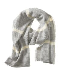 Banana Republic | Gray Marled Stripe Scarf | Lyst