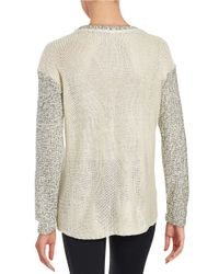 Lord & Taylor | White Hi-lo Knit Sweater | Lyst