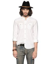 DIESEL | White Cotton Chambray Western Shirt for Men | Lyst