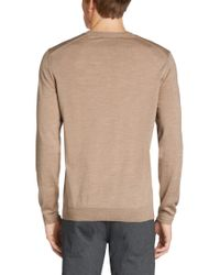 BOSS - Natural 't-dan' | Italian Silk Wool V-neck Sweater for Men - Lyst