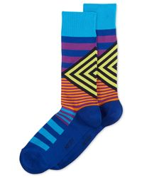 Hot Sox | Blue Men's Mixed Striped Socks for Men | Lyst