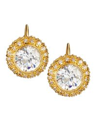 Freida Rothman | Metallic Bezel-set Cz Button Earrings | Lyst