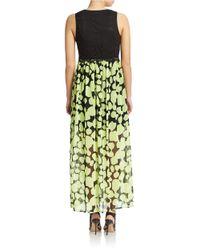 Kensie | Black Big Dot Maxi Dress | Lyst