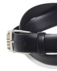 Paul Smith - Black Roller Leather Belt for Men - Lyst