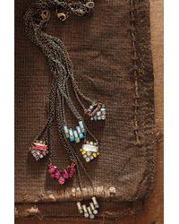 Anthropologie   Pink Glitzed Arrow Necklace   Lyst