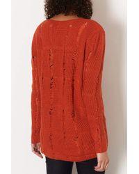 TOPSHOP | Orange Maternity Ladder Knit Jumper | Lyst