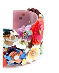 J.Crew | Multicolor Blooming Sequin Paillette Cuff Bracelet | Lyst