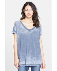Beach Lunch Lounge | Blue 'dani' Burnout V-neck Boyfriend Tee | Lyst