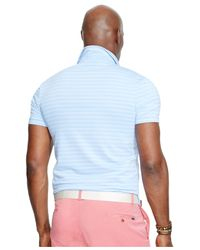 Polo Ralph Lauren | Blue Big & Tall Striped Performance Polo Shirt for Men | Lyst