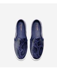Cole Haan - Blue Bowie Slip On Sneaker - Lyst