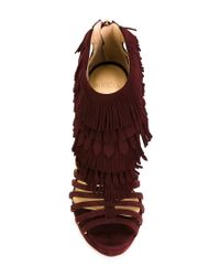 Alexandre Birman | Purple Fringed Cage Sandals | Lyst