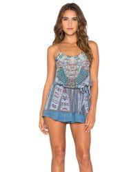 Camilla - Blue Silk Printed Jumpsuit  - Lyst