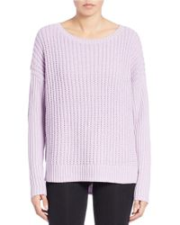 Lord & Taylor | Blue Knit Crewneck Sweater | Lyst