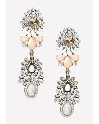 Bebe - Multicolor Double Cluster Earrings - Lyst