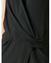 Helmut Lang - Black Wrap Top - Lyst
