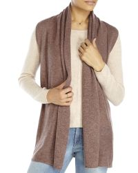 In Cashmere | Brown Petite Shawl Collar Knit Vest | Lyst