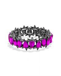 BaubleBar | Pink Crystal Spike Stretch Bracelet | Lyst