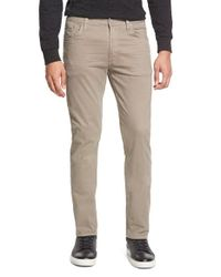 Citizens of Humanity | Natural 'bowery' Slim Fit Twill Pants for Men | Lyst