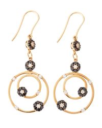 Roberto Coin - Metallic 18 Karat Gold Fantasia Diamond Dangle Earrings - Lyst