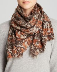 Aqua | Brown Tiger Scarf | Lyst