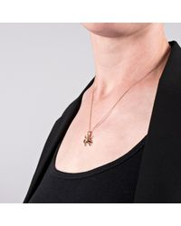 Edge Only - Metallic Spotted Bug Pendant Gold - Lyst