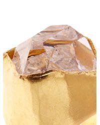 Pippa Small - Metallic Herkimer Diamond-Quartz & Yellow-Gold Ring - Lyst