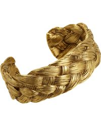 Aurelie Bidermann - Metallic Braided Cuff - Lyst