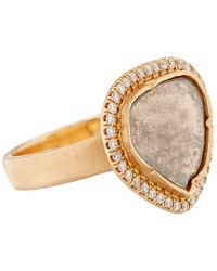 Brooke Gregson | Pink Rose Gold And White Diamond Ring | Lyst