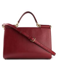 Dolce & Gabbana | Red Medium 'Sicily East/West' Tote | Lyst