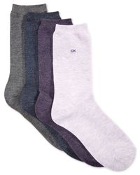 Calvin Klein | Purple Women's Juliet Holiday Socks 4 Pack | Lyst