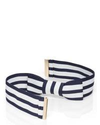 Kate Spade | Blue Stripe Bow Belt | Lyst